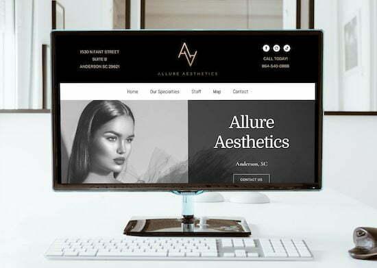 anderson sc botox web design client