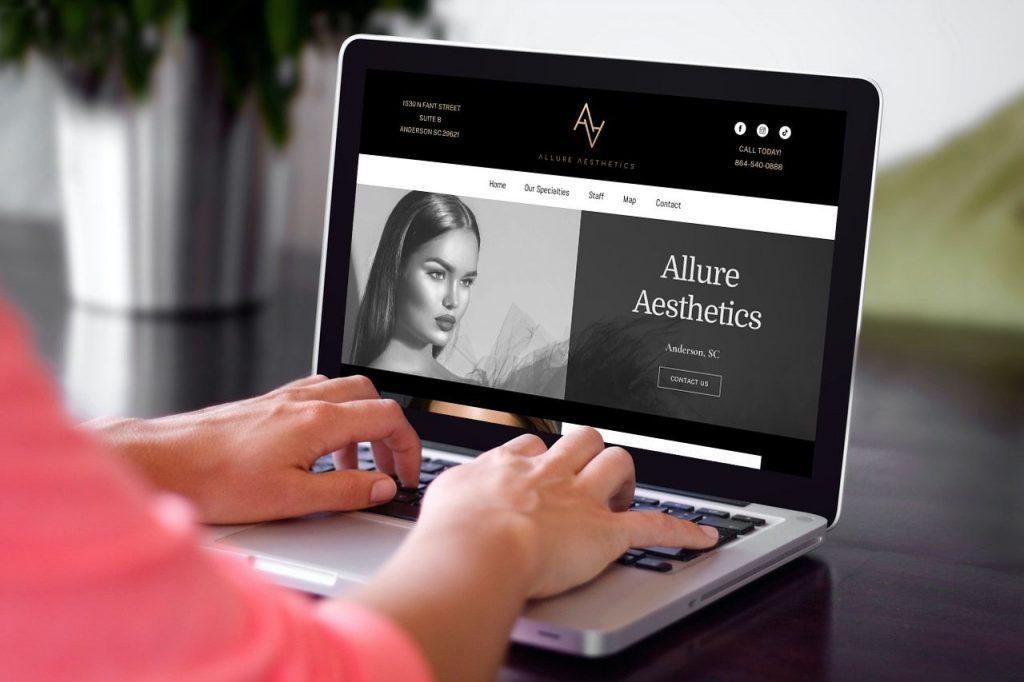 web page design anderson sc