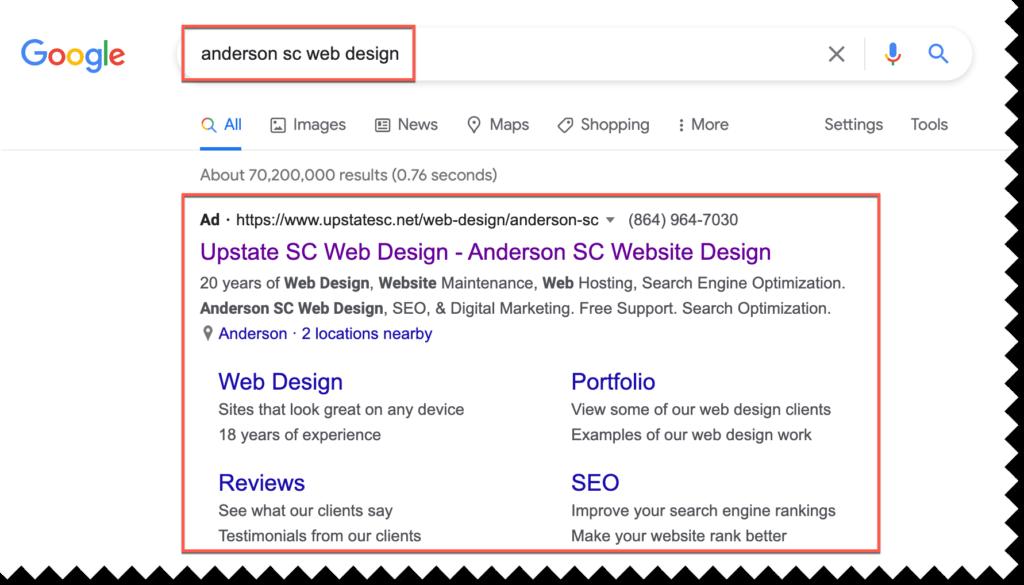 anderson sc google advertising