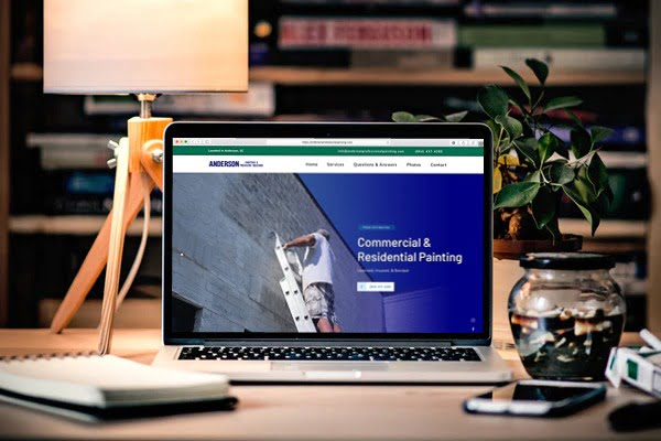 small business websites anderson sc
