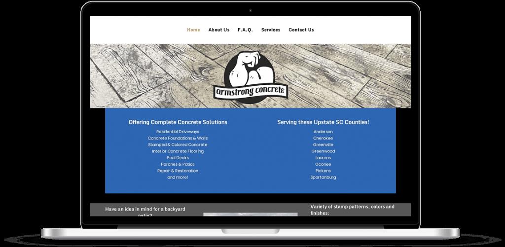 armstrong concrete website