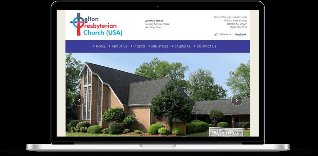 belton presbyterian church web design