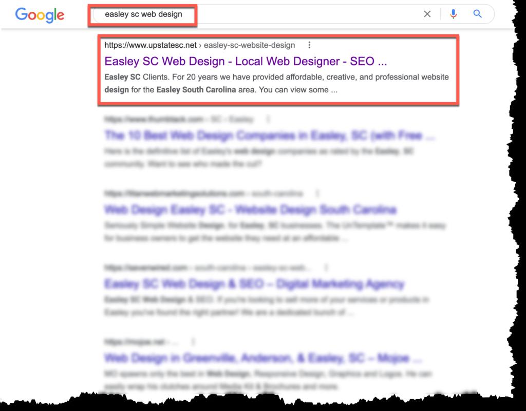 easley sc search engine optimization seo