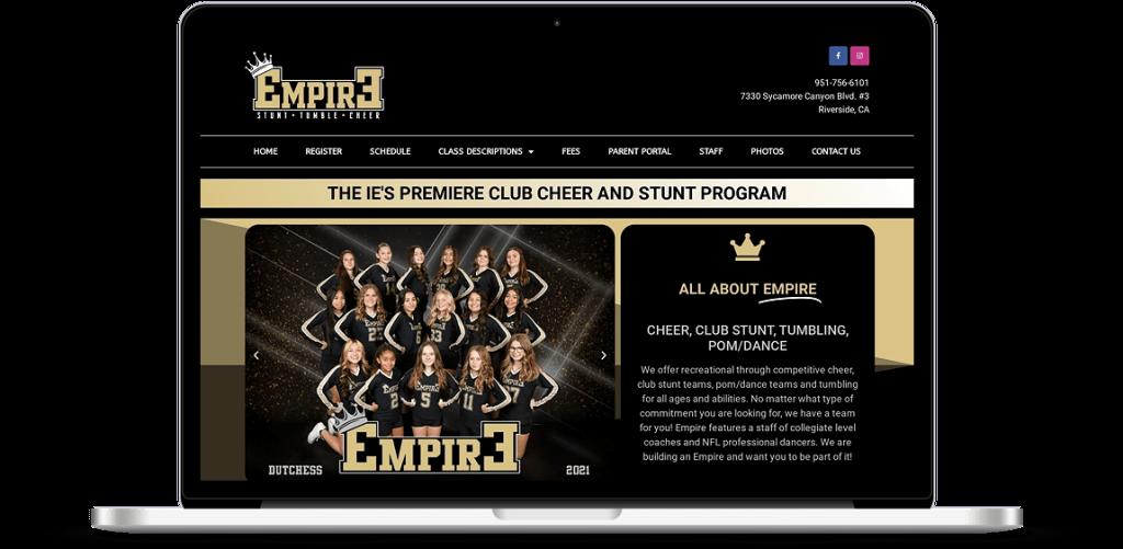 empire cheer riverside ca web design