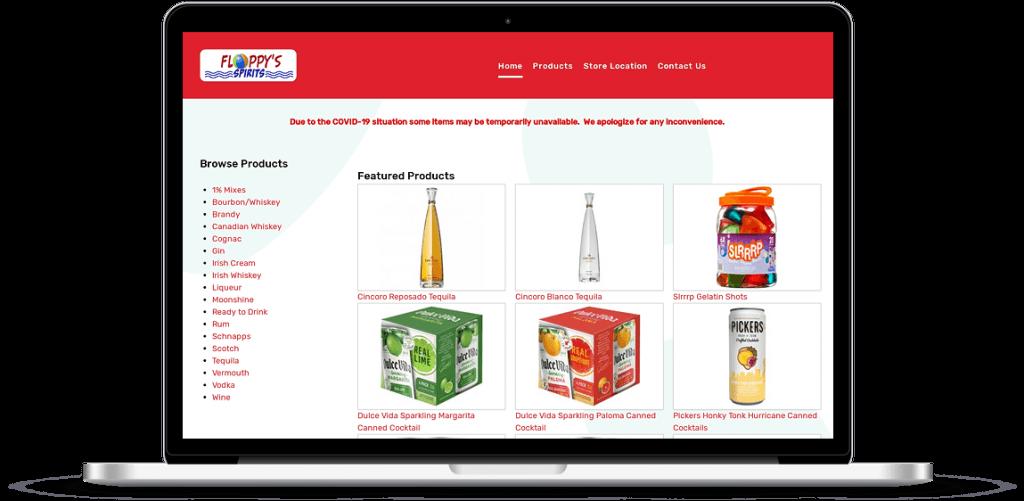 floppys spirits web design anderson sc