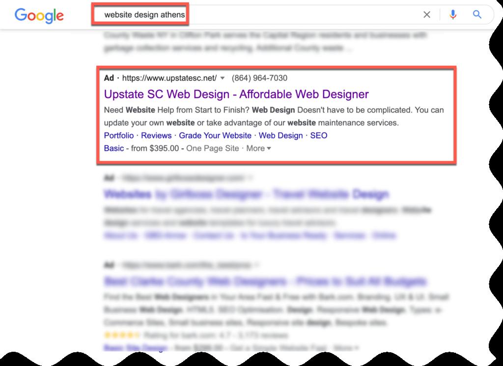 google ads athens ga seo