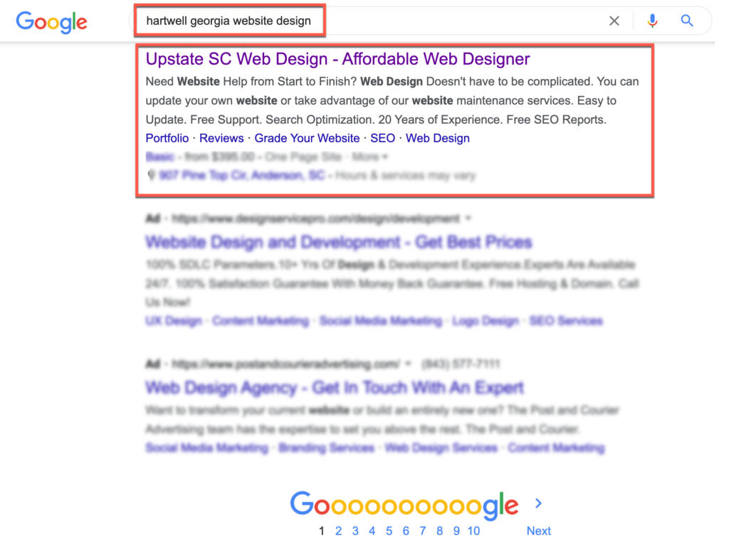 hartwell Georgia google advertising