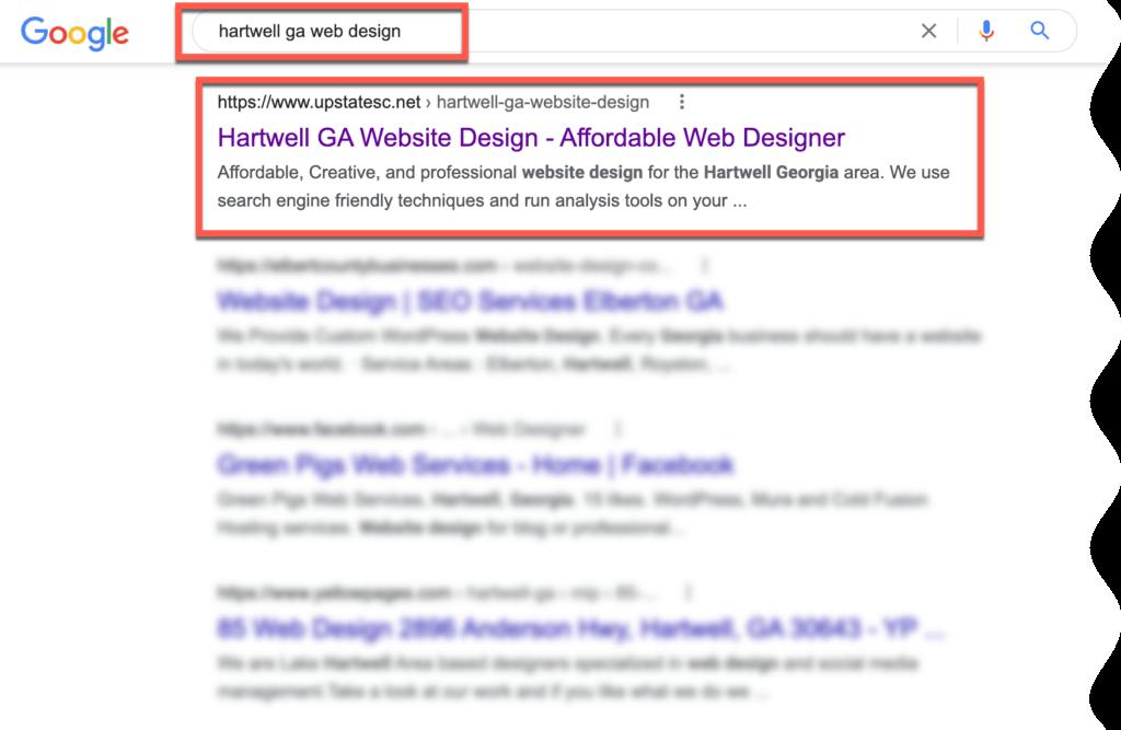 hartwell ga search engine optimization