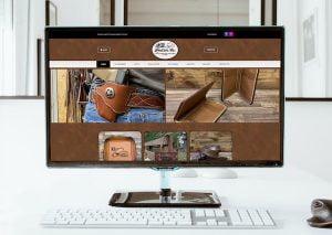 kb leather co web design