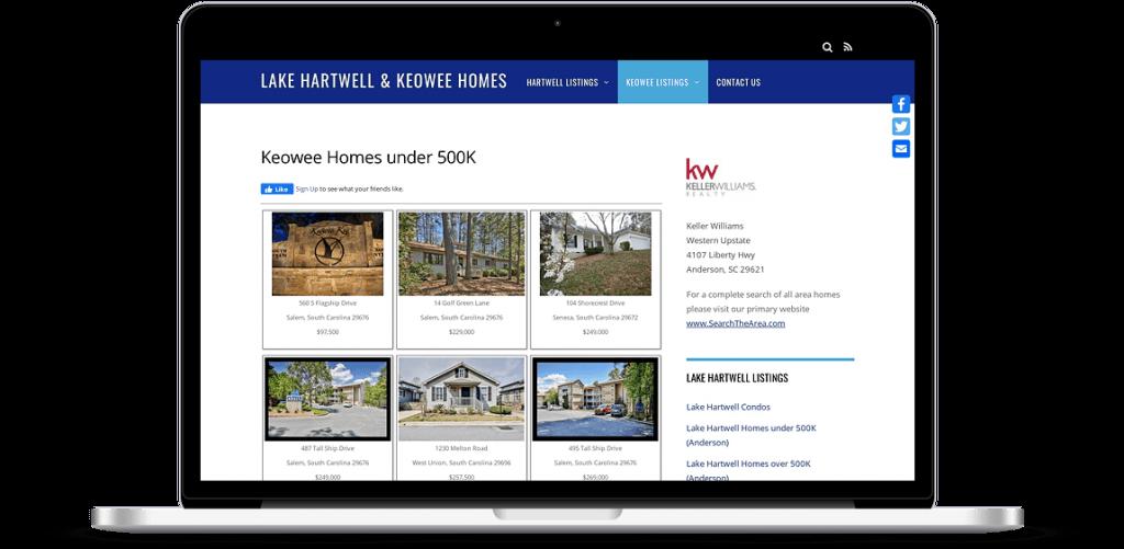 hartwell keowee homes website anderson