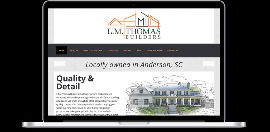 LM Thomas Builders Web Design Anderson SC