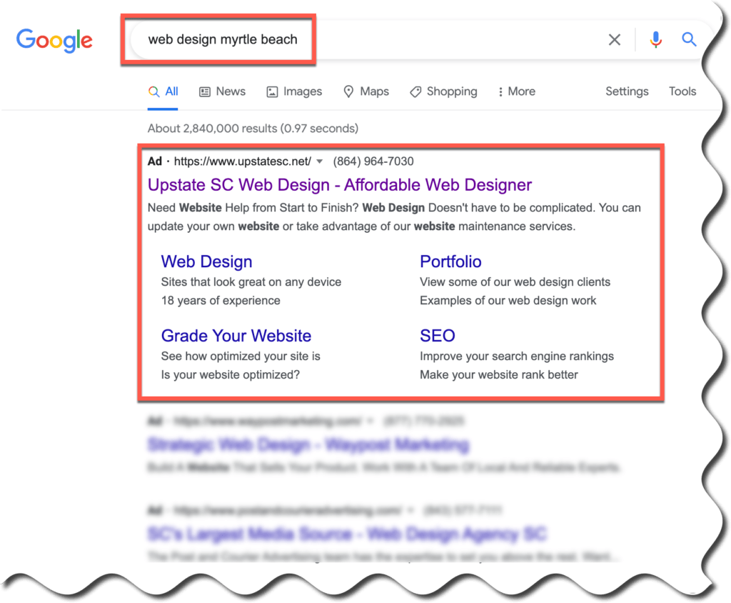 myrtle beach google ads
