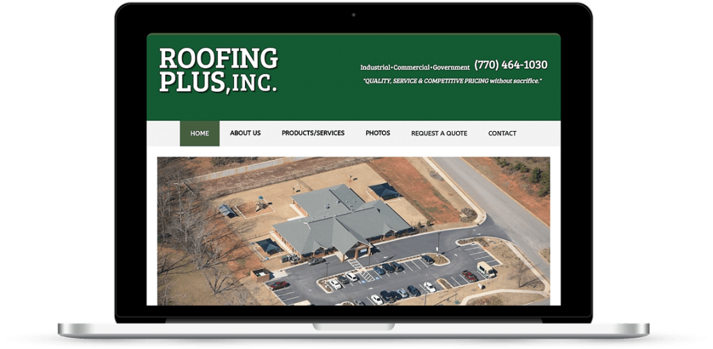 atlanta ga web design roofing