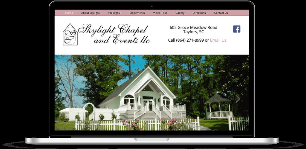 skylight chapel joomla web design greenville