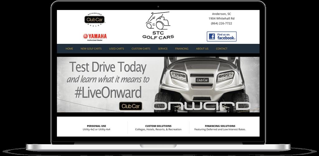 STC Golf Cars Website Design