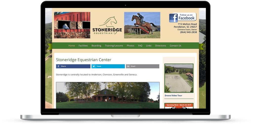stoneridge pendleton sc web design