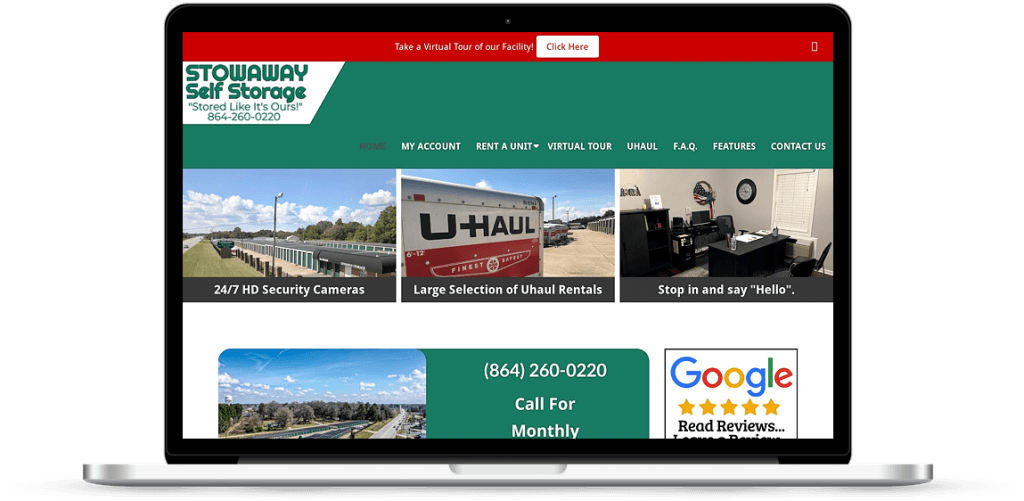 stowaway storage website anderson sc
