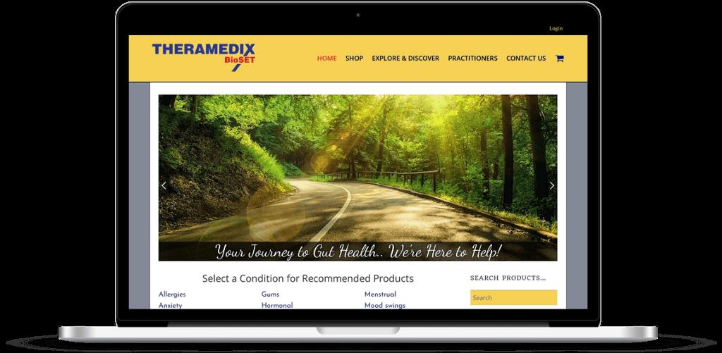 theramedix bioset web design