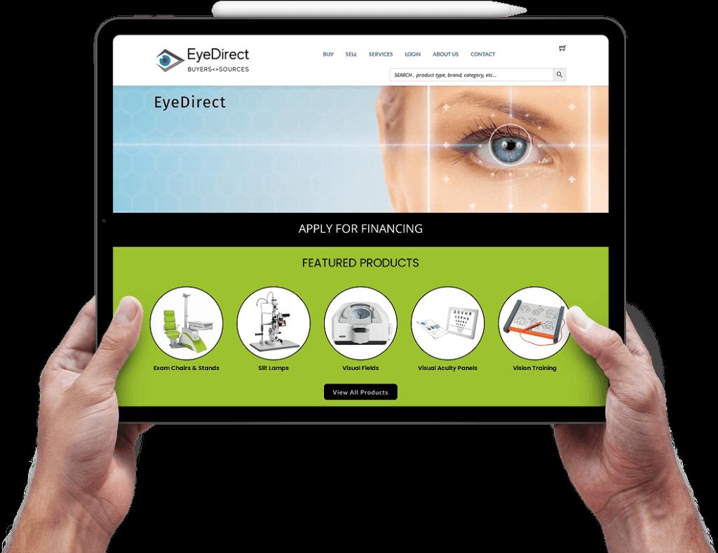 eyedirect ecommerce website